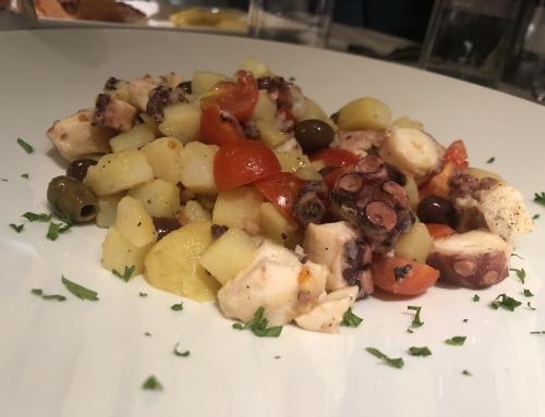 Bimby, Insalata di Polpo (Polipo) con patate, pomodorini e olive