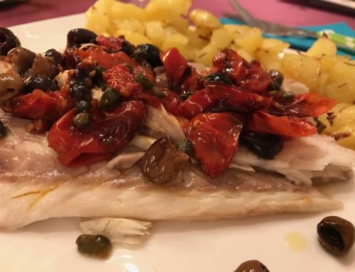 Con e Senza Bimby, Branzino alla Mediterranea con Patate – Piatto di Natale