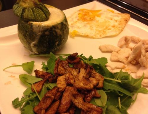 Con e Senza Bimby, Pollo al Limone e Pollo con Salsa di Aceto Balsamico con Zucchine Tonde Ripiene e Uova