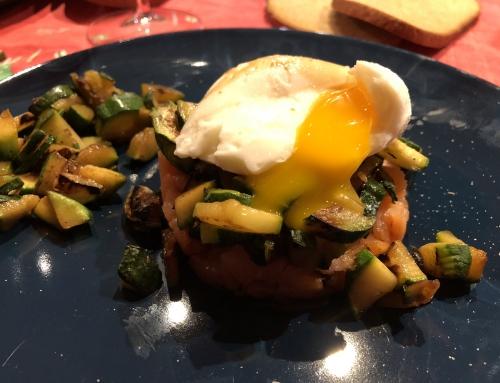 Buona Pasqua con Tartare di Salmone, Zucchine e Uovo alla Fascians