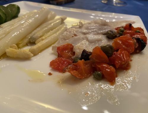 Senza Bimby, Rombo alla Mediterranea con Asparagi e Zucchine